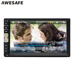 """7"""" 2 din Car DVD GPS radio player Universal Bluetooth double din touch screen car stereo for Volkswagen VW golf 5 6 with free gi"""