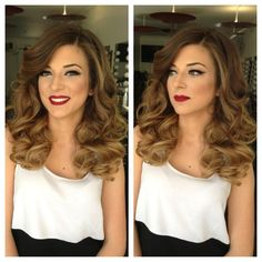 Love the hair! Great for a wedding or special occasion