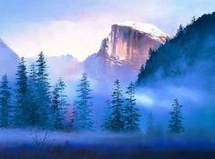 Китайский художник H. Leung. Красивый пейзаж маслом девятый