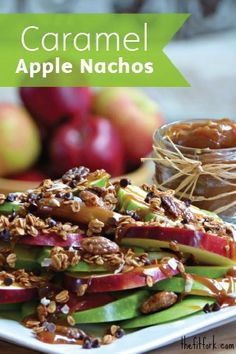 Looking for a delicious dessert that celebrates some of fall's best flavors?  Caramel Crunch Apple Nachos is an easy-to-make, fun-to-eat sweet treat that's perfect for any autumn-themed event or upcoming birthday.