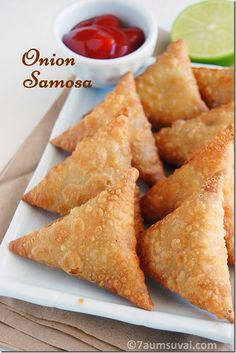 Recipes from south India, North India and around the world. Look for step by step recipes, varieties of chutneys, rice, gravies and kids delights. Samosas, Empanadas, Baked Onions, Crispy Onions, Savory Snacks, Snack Recipes, Cooking Recipes, Cooking Stuff, Cooking Tips