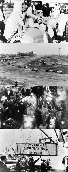 1937 Vanderbilt Cup  Bernd Rosemeyer & Auto Union Type C/Winners