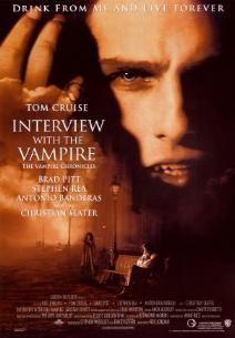 """Filme """"Entrevista com Vampiro"""" baseado no livro de mesmo nome de Anne Rice, com Tom Cruise,Brad Pitt, Antonio Banderas e Kirsten Dunst"""