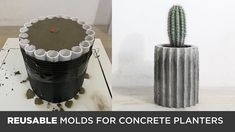 I have made a lot of concrete planters and this time I wanted to experiment with making reusable molds. This segmented concrete planters are made out of Quik. Concrete Planter Molds, Diy Wooden Planters, Concrete Pots, Wooden Diy, Pallet Planters, Concrete Casting, Concrete Design, Diy Concrete Mold, Recycled Planters