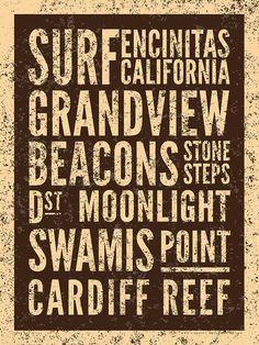 Surf Encinitas California Digital Art  - Surf Encinitas California Fine Art Print