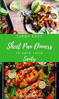 Easy Sheet Pan Dinners, Meal Prep