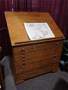 Shaker Slant Top Drafting Desk