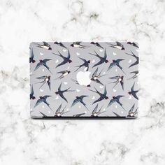 Cute Macbook Air sleeve 13 inch laptop case 15 inch laptop sleeve Swallow birds laptop sleeve Pastel blue laptop bag MacBook Pro sleeve
