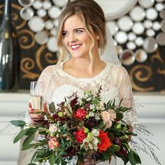 Sinead's amazing autumn #bridalbouquet by Dominic Dunne Photography #autumnwedding  #weddingflowers #irishwedding #irishflorist #bloomsdayflowers