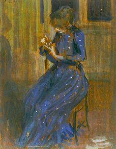 Girl in a Blue dress, Philip Wilson Steer