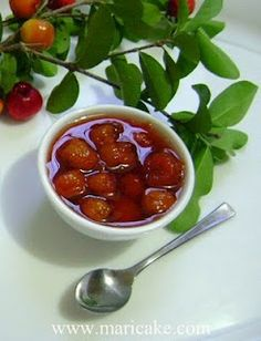 Dulce de Cereza Dominicano, Dominican Carribean Cherry Marmalade Dessert