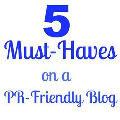 If you are blogger who wants to work with brands, be sure to have these 5 things on your blog. #blogging