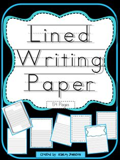 This offers a variety of 54 lined paper with a variety of borders, picture boxes, and formats, on half and whole pages. Also included are themed lined paper and spelling and vocabulary lined paper. $