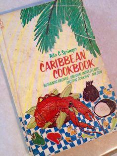 "My 1983 copy of Rita Springer's evergreen classic ""Caribbean Cookbook"". Available on Amazon! :)  ☀️  #caribbean #book #cookbook #recipes #read #love"