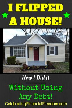 I Flipped my first house and made a profit! Click the Pic and read the 8 part…