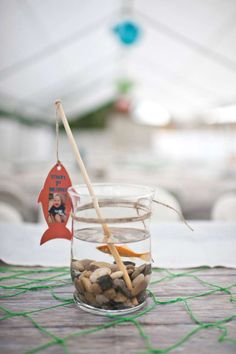 Gone Fishing Birthday Party Swimming Fish Centerpiece from a Gone Fishing Birthday Party via Kara's Party Ideas Birthday Table, 1st Boy Birthday, First Birthday Parties, Birthday Party Themes, First Birthdays, Birthday Decorations, Birthday Ideas, Fish Party Decorations, Fishing Decorations