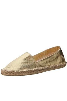 Sphinx Espadrille by Report Signature. Canvas slip on with slightly pointed toe and espadrille sole. Non-skid sole and cushioned footbed.