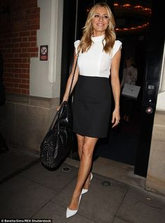 Chic display: Tess Daly looked incredible as she left the Special K charity event at Londo...
