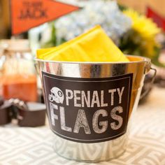 Penalty Flags Printable Sign INSTANT DOWNLOAD by Beth Kruse Custom Creations by BethKruseCC on Etsy https://www.etsy.com/listing/247334136/penalty-flags-printable-sign-instant