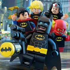 Load up the Batmerch cannon, it's #NationalSuperheroDay! The #LEGO #JusticeLeague is showing off their #Batman pride. #LEGOSuperHeroes