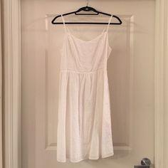 White Eyelet Lace Sundress, M Old navy white sundress, size medium, never been worn. Old Navy Dresses Mini