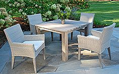 Kingsley-Bate Paris and Valhalla 5 Piece Dining Ensemble Outdoor Sofa Sets, Outdoor Dining Set, Outdoor Lounge, Outdoor Rooms, Outdoor Decor, Outdoor Patios, Resin Wicker Furniture, Outdoor Furniture Stores, Pool Furniture