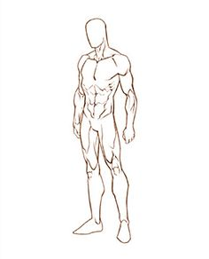 Male Sketch Template Google Search Figure Drawing Reference Anatomy