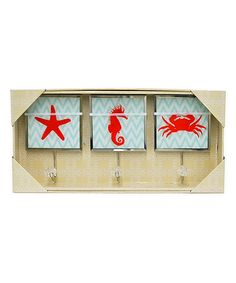 Look at this Three Hands Corporation Red Coastal Wall Hook - Set of Three on #zulily today!