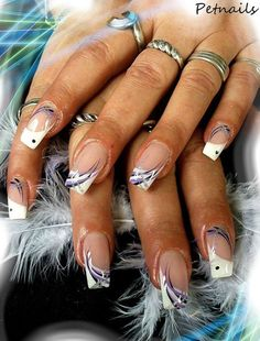 french nails gold New Years French Nail Designs, Acrylic Nail Designs, Nail Art Designs, Acrylic Nails, Great Nails, Fabulous Nails, Gorgeous Nails, French Nails, Purple French Manicure