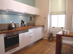 solid (local) walnut wooden worktops in the kitchens