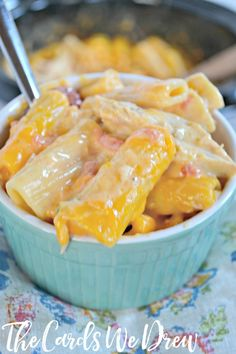 Crockpot Cheesy Chicken Rigatoni is the perfect winter comfort food with delicious, tender chicken, and loads of cheese and flavor!