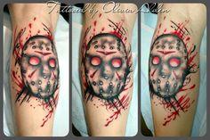 "Jason ""X"" Vorhees trash poka tattoo"