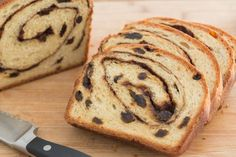 "Homemade Cinnamon Raisin Bread from Joanne at PW Cooks. Need to start a new boar… Homemade Cinnamon Raisin Bread from Joanne at PW Cooks. Need to start a new board called ""Please Don't Make Me Buy a KitchenAid. Rasin Bread, Cinnamon Raisin Bread, Banana Bread, Cinnamon Bread Recipe Yeast, Bread Machine Cinnamon Rolls, Yeast Bread Recipes, Bread Rolls, Bread Machine Recipes, Sweet Bread"