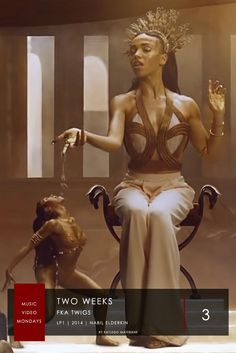 3. FKA Twigs - Two Weeks | #MusicVideoMondays | #Top6  A Continuous Tracking Out Shot Showing FKA As A Goddess With Miniature Versions Of Herself Dancing & Performing Tasks. The Video Was Directed By Nabil Elderkin