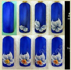 3d Flower Nail Art Fleur, Rose Nail Art, 3d Nail Art, Nail Arts, 3d Flower Nails, 3d Acrylic Nails, 3d Nail Designs, Nail Art Techniques, Nails First