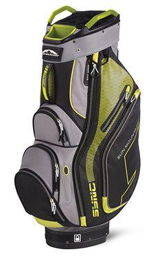 Gray/Citron Sun Mountain Men's Sync Golf Cart Bag at #lorisgolfshoppe