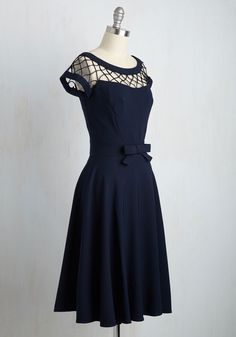 With Only a Wink Dress in Navy. You pride yourself upon being a lady of style and sophistication. #blue #modcloth