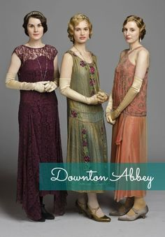 Downton Abbey Costumes - Lady Mary, Rose and Edith Downton Abbey Costumes, Downton Abbey Fashion, 1920s Outfits, Mode Outfits, 1920s Fashion Dresses, 1920s Fashion Women, Ladies Fashion, Dress Fashion, Sporty Fashion