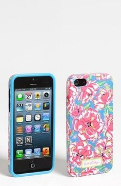 Lilly Pulitzer floral iPhone case, $28.... I ♥ this so much! Don't have the moneys ....