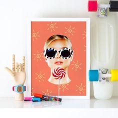 Fashion illustration//summer //trendy hipster chic decor prints wall art poster planner dashboard postcard canvas  www.etsy.com/shop/ludicprints