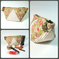 Cosmetic pouch / make up bag  Find more at : www.bearberryhandmade.etsy.com