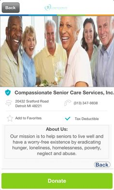 Compassionate Senior Care Services, Inc. in Detroit, Michigan #GivelifyNonprofits