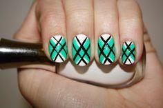 Prep School - nail art by Polish You Pretty