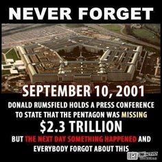 so to cover the theft of trillions we had the greatest false flag ever.......