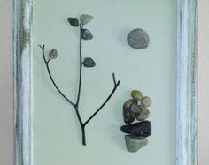 Pebble Art / Rock Art Family of Three family gift by CrawfordBunch