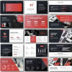 Presentation Slides Design, Business Presentation Templates, Presentation Layout, Modern Powerpoint Design, Powerpoint Design Templates, Professional Ppt Templates, Mind Map Design, No Photoshop, Web Design