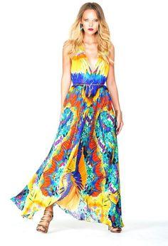 17fac0f9006d Shahida Parides - Orange Dresses One Shoulder V Neck Halter Backless Dress  In… Marcel Proust