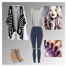 """""""One day"""" by thaisa-tcs ❤ liked on Polyvore featuring Topshop and Chicnova Fashion"""