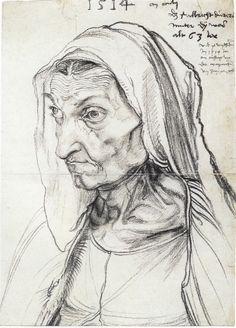 Barbara Dürer (artist's mother), 1514 by Albrecht Dürer