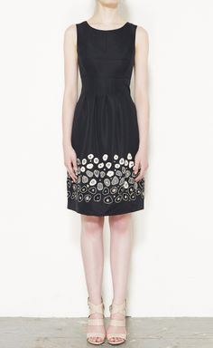 Lela Rose Black And Cream Dress | VAUNTE
